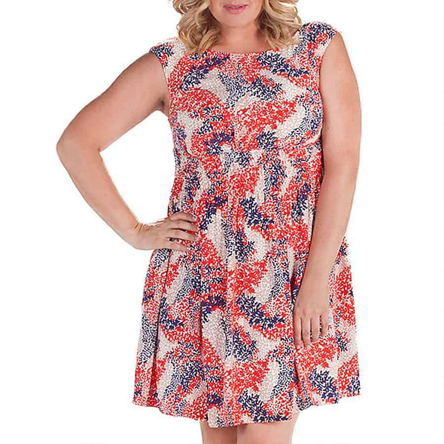 Jessica Simpson Red Floral Print Dress