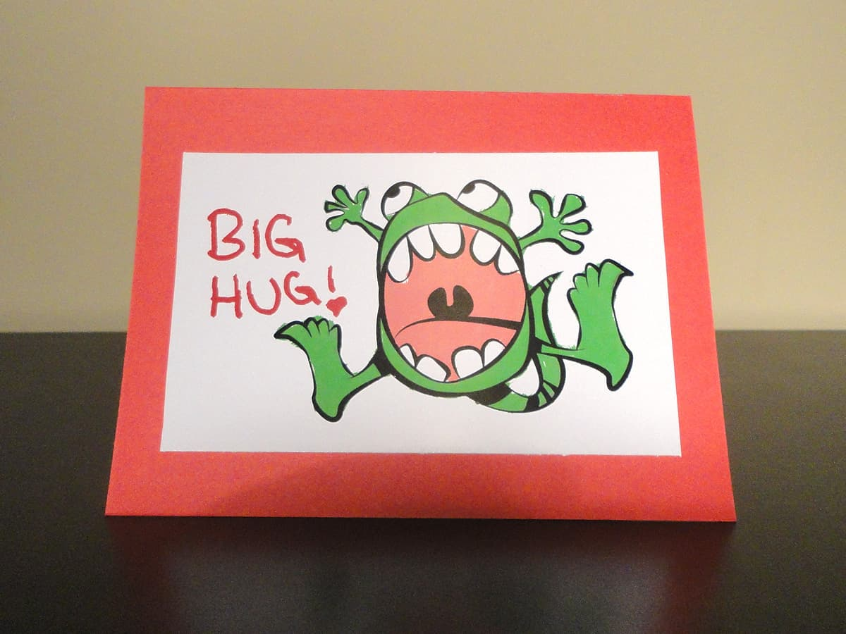 Fresh Paint Valentine's Day Card: Big Hug