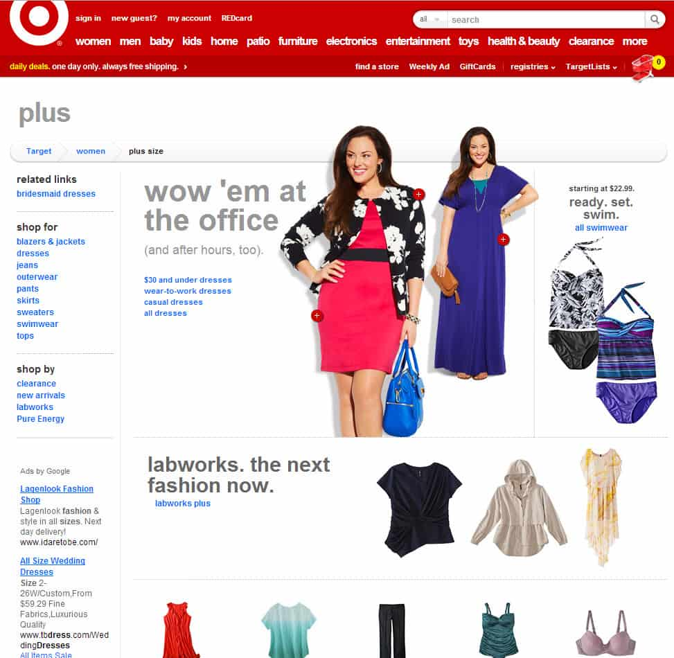 Plus size clothing only found in Target US