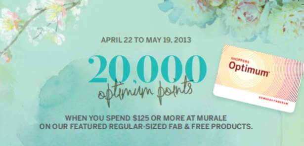 Murale Fab & Free with 20,000 Optimum Points
