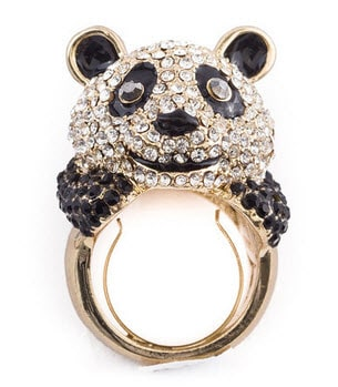 Little Black Bag: Panda Ring
