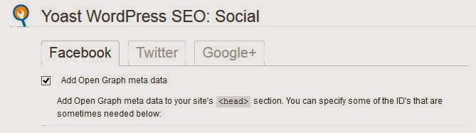 Ensure that 'Add Open Graph meta data' is selected in the Social: Facebook tab of the Yoast WordPress SEO plugin.