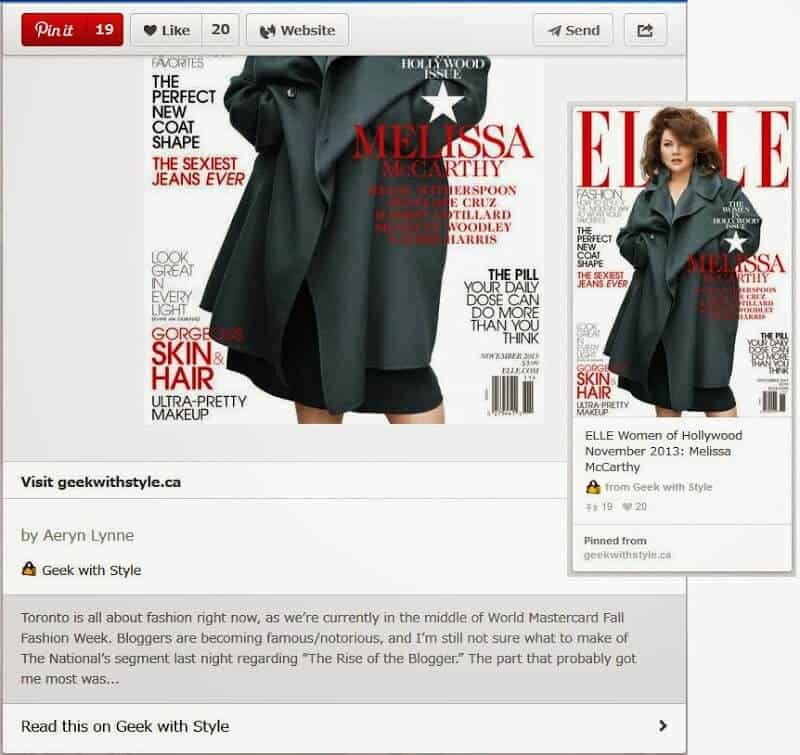 Pinterest's Rich Pins are now verified for Geek with Style