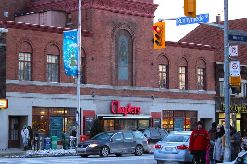 Chapters/Runnymede Theatre front facade.
