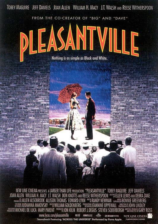 Pleasantville - premiered on October 23rd, 1998. Jay and I saw this movie for our first date at the Runnymede Theatre.
