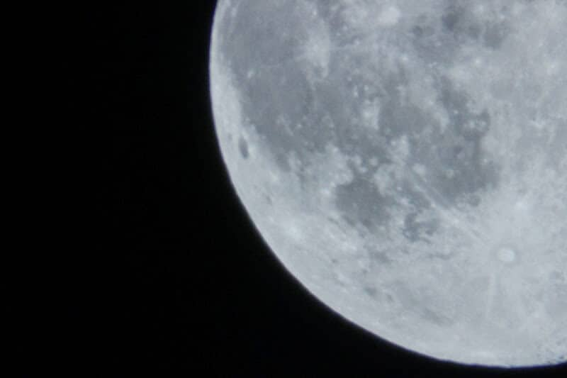 Perigee Moon - Side shot of the moon.