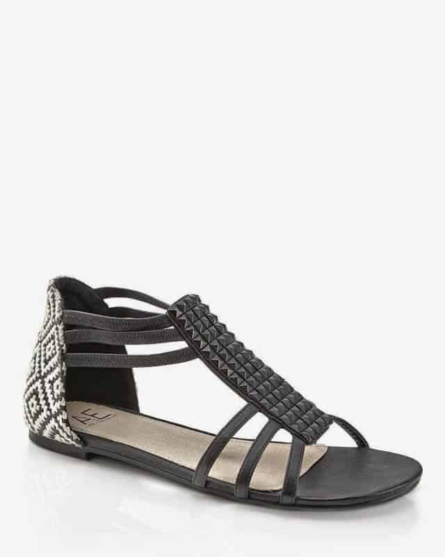 Addition Elle: Studded Flat Sandal