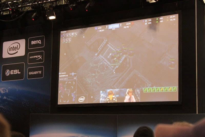 Watching the Intel Extreme Masters competition on the big screen.
