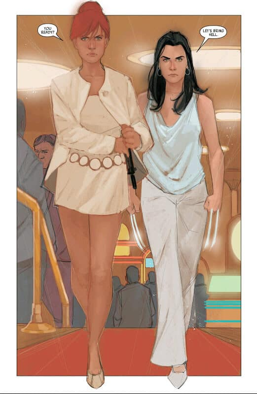 Page from Black Widow #11, 2014 - drawn by Phil Noto
