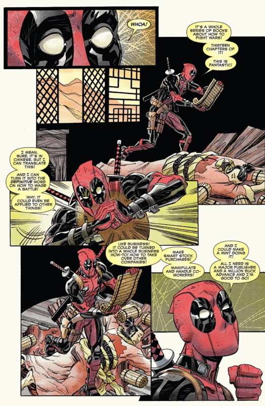 Deadpool's Art of War #1, drawn by Scott Koblish
