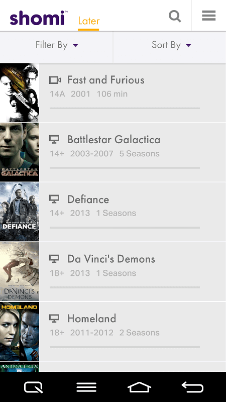 Part of my shomi Later list of shows/movies that I have yet to see!