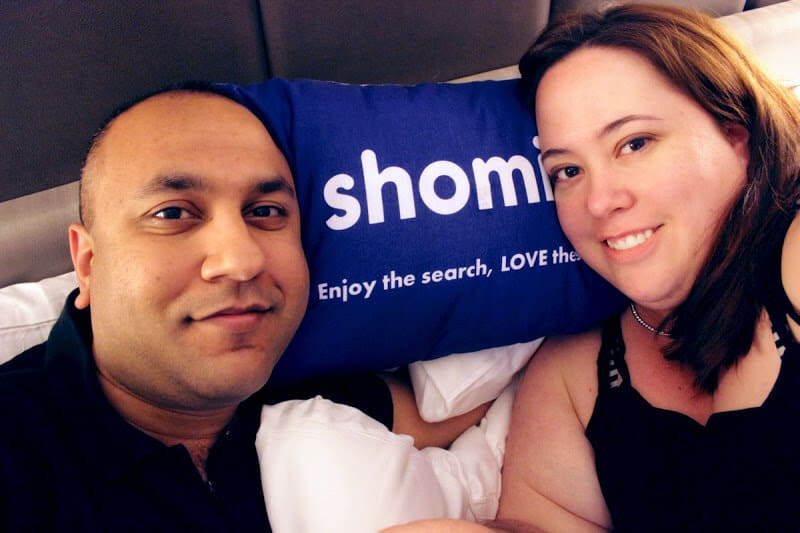 Jay and I bingeing on TV with shomi at the Hazelton Hotel in Yorkville, Toronto.