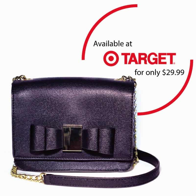 Cute bag, perfect for holiday parties. Available at Target Canada for only $29.99
