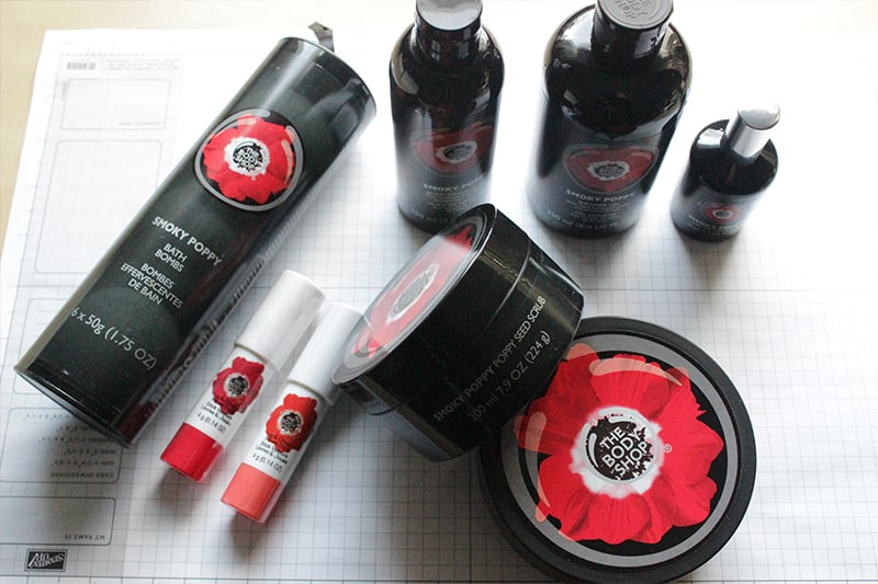 Beauty Bag Valentines The Body Shop's Smoky Poppy Collection