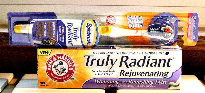 Arm & Hammer Truly Radiant Toothbrush and Paste