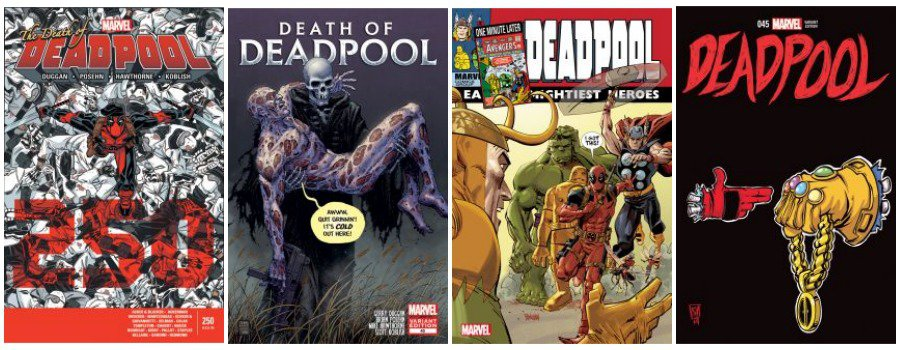 Death of Deadpool Variant covers