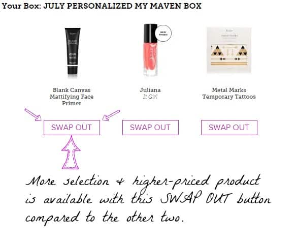 Which Julep products to swap for an awesome box.