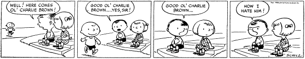 First Peanuts Comic Strip by Charles Shulz
