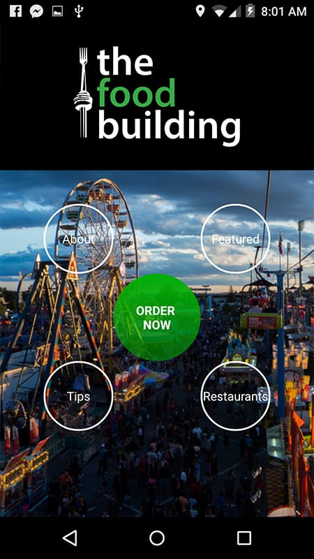 CNE The Food Building App from Grabb Mobile
