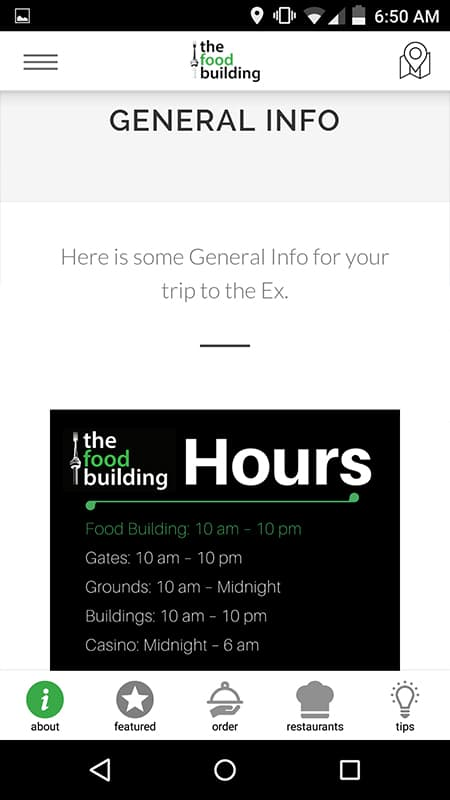 CNE The Food Building App Helpful General Info