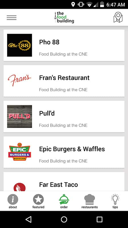 CNE The Food Building Restaurants