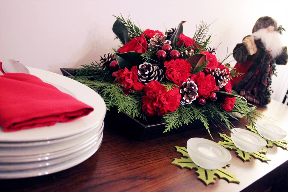 Ready for Table Setting - Christmas Themed