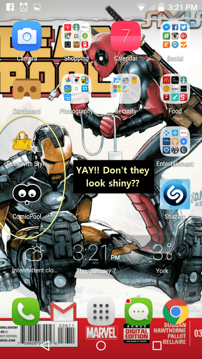 My smartphone home screen, woot.