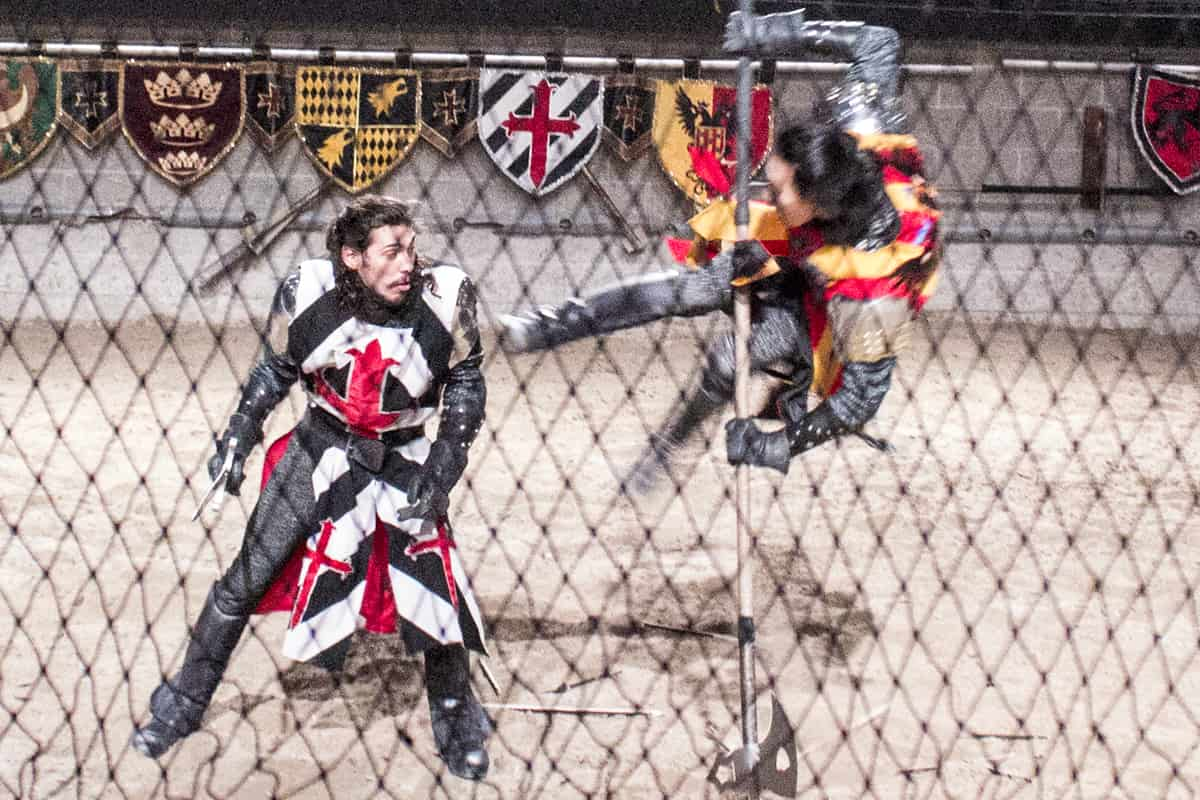 Medieval Times Knights Fight