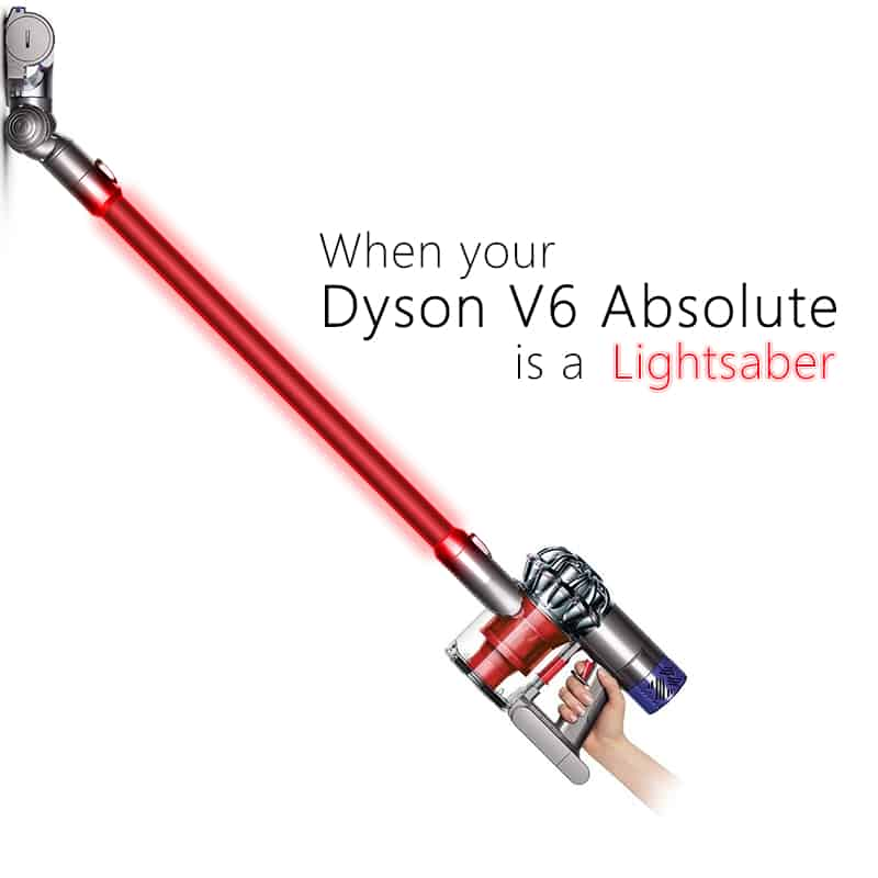 Dyson V6 Absolute Light Saber