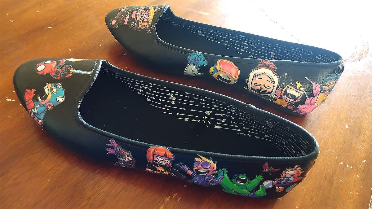 XMen vs Avengers Comic Book Shoes