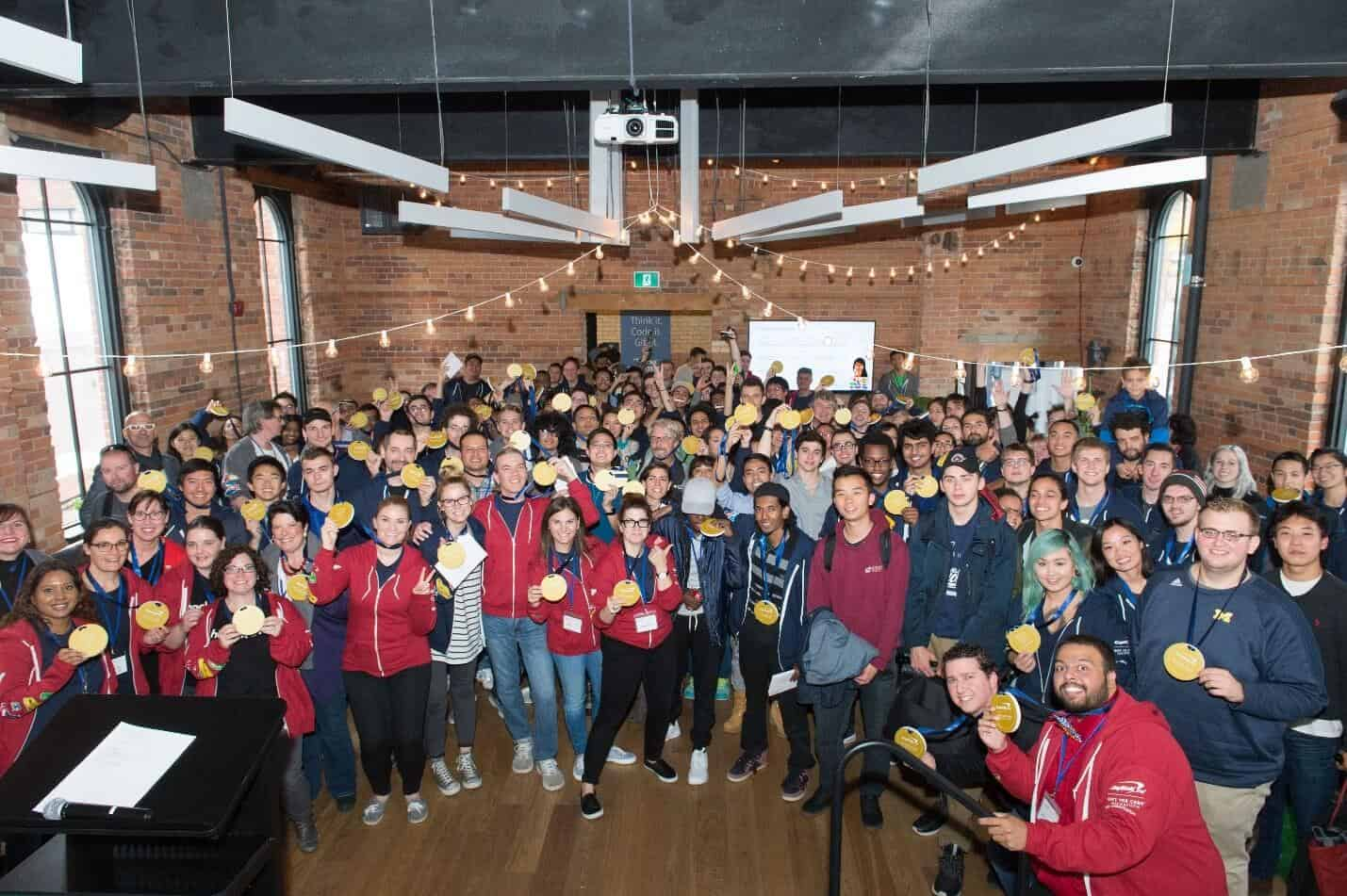 GiftTheCode - Group photo of inspiring designers and coders.