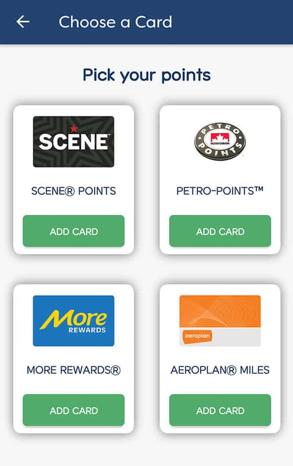 Carrot Rewards App - Choose Points to Earn
