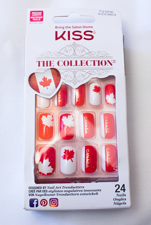 KISS Canada Press On Nails - Canada 150 Birthday Celebration