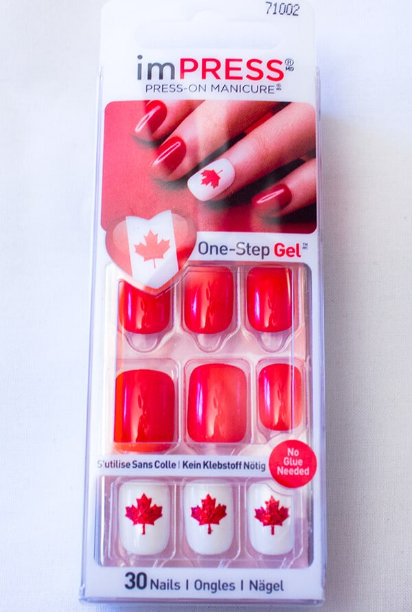 imPRESS Canada Press On Nails - Canada 150 Birthday Celebration