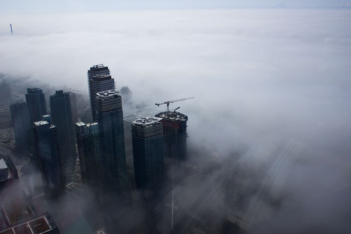 Rise Above the Cloud Fog Technology City - Elevate Toronto