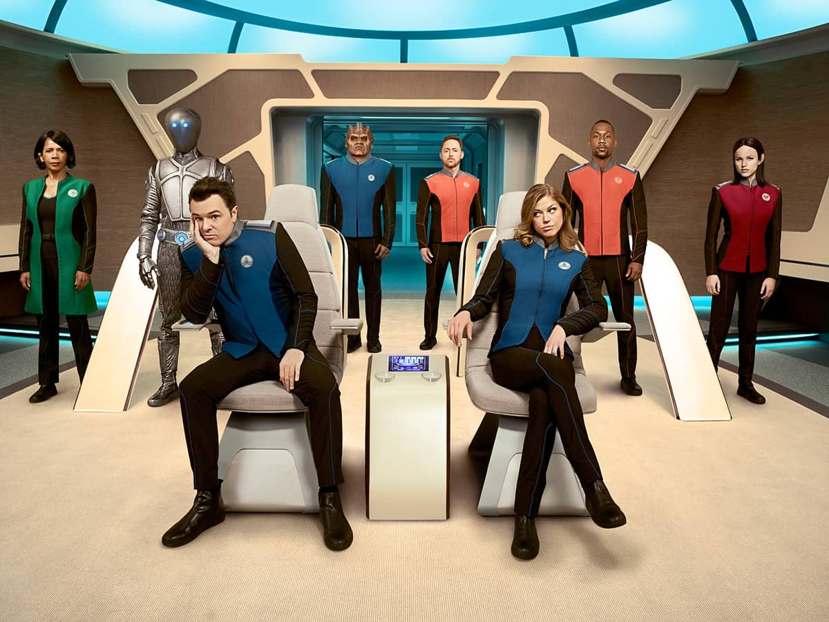 The Orville cast photo, including Seth MacFarlane