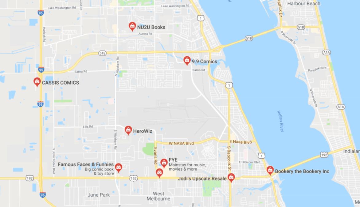 Melbourne Florida Comic Book Shops