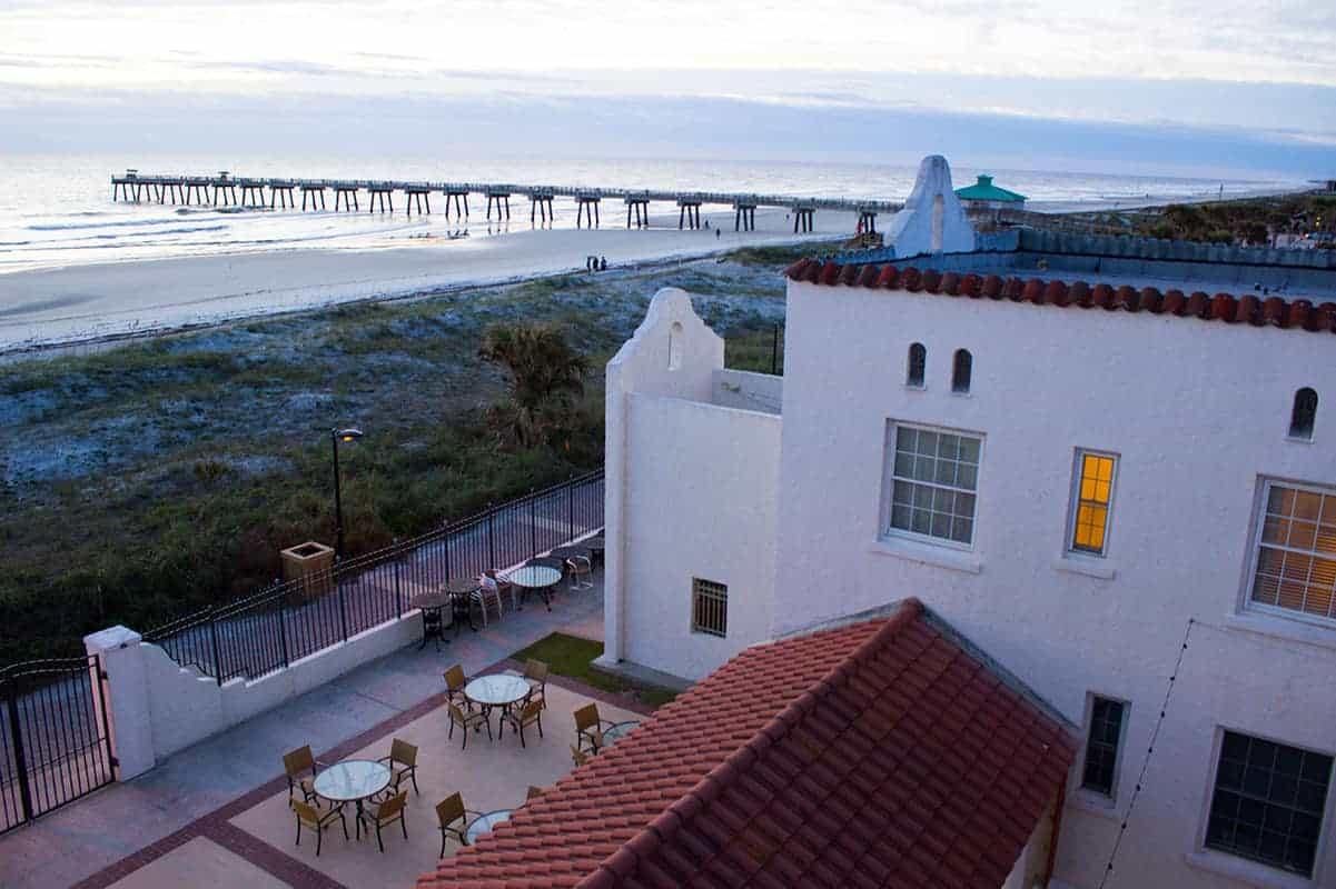 Casa Marina Jacksonville Florida courtyard historic hotel