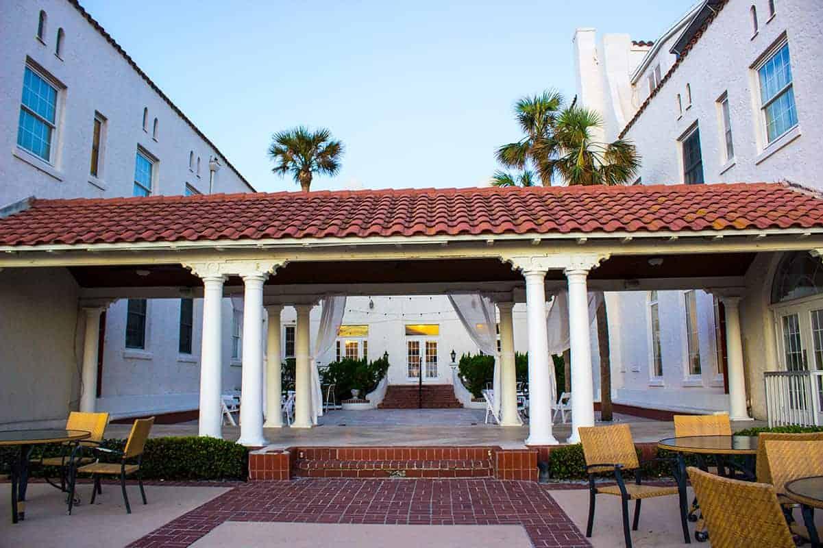 Casa Marina Jacksonville Florida full courtyard historic hotel