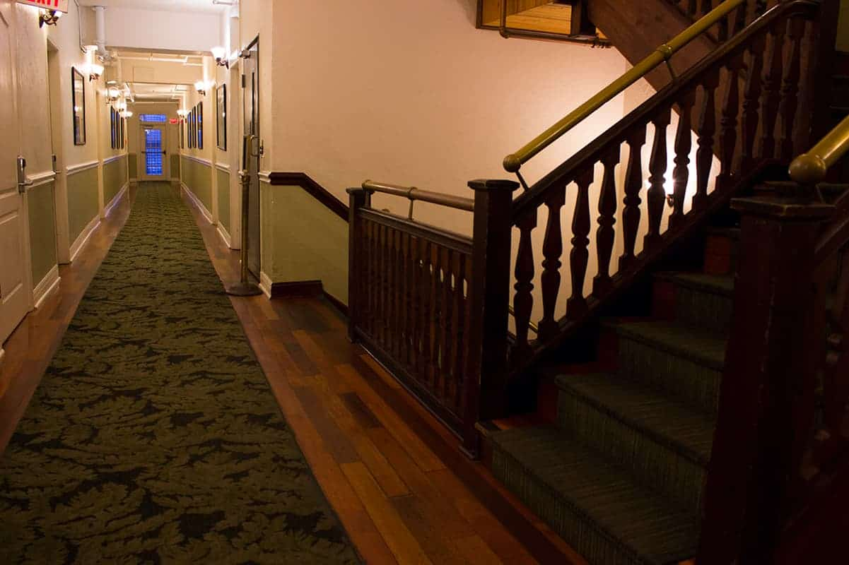 Casa Marina Jacksonville Florida hallway and stairs historic hotel
