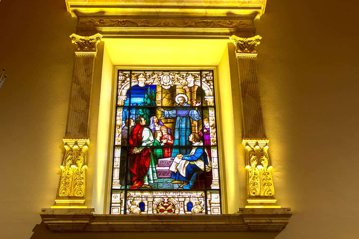 Cathedral Basilica of St. Augustine Preaching Stain Glass