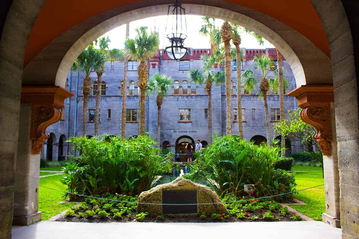 Historic Alcazar Hotel Courtyard Entrance Lightner Museum