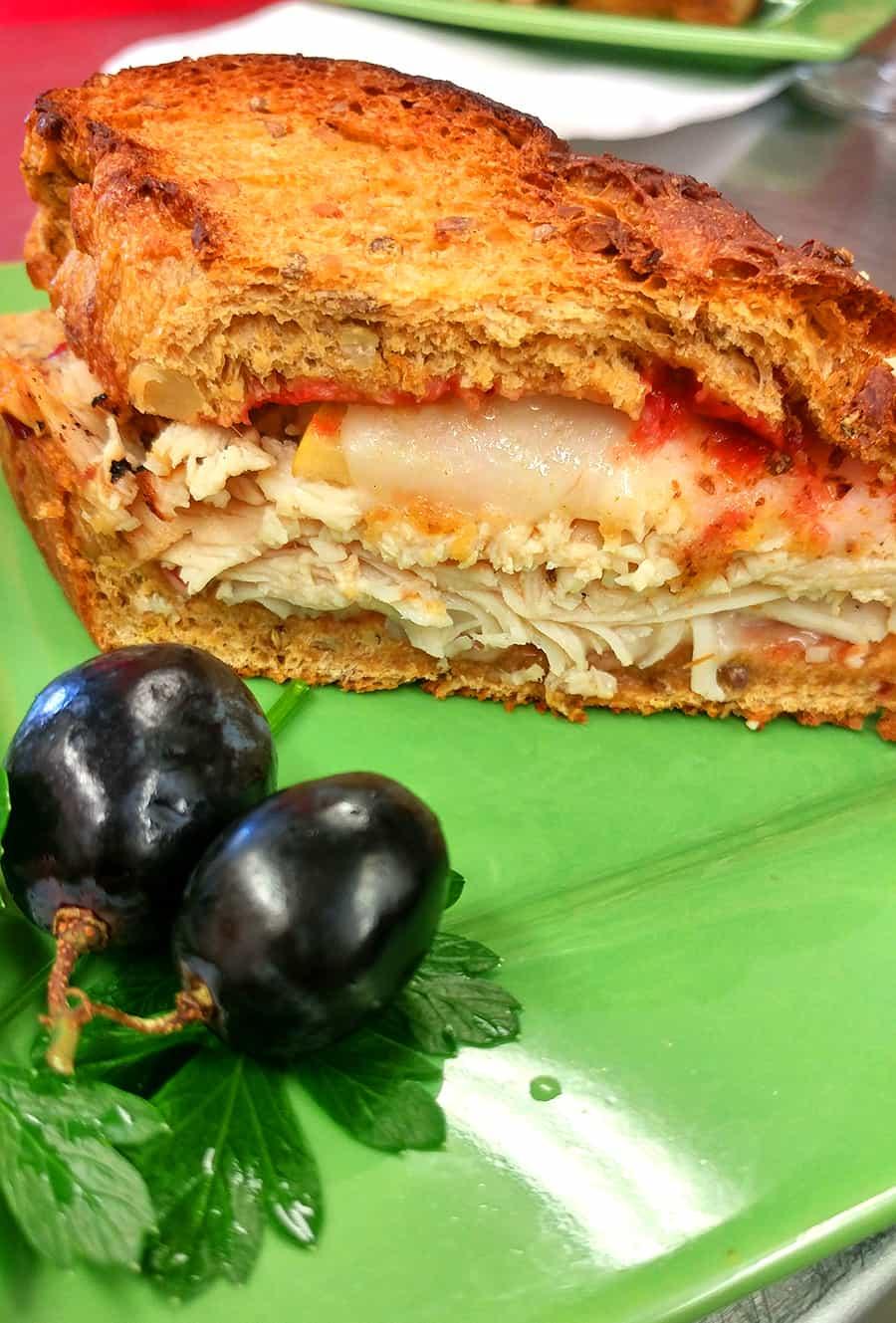 Hot Shot Bakery & Cafe's Ham & Turkey Panini, St. Augustine Florida