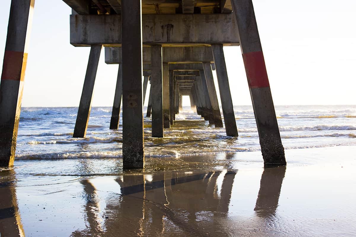 Jacksonville Florida Beach Waves Under Bridge Girlfriend Getaway
