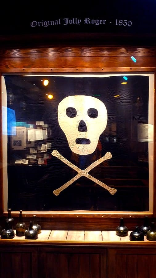 Jolly Roger Flag Found Pirate and Treasure Museum