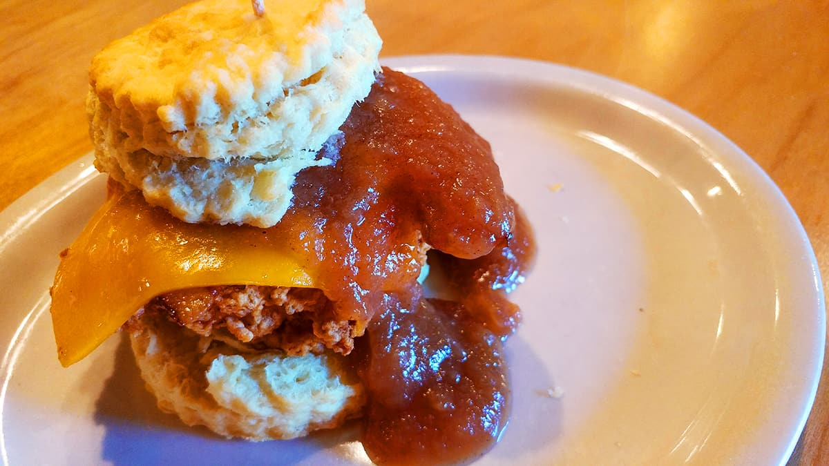 Maple Street Biscuit Company - The Farmer Sandwich - chicken bacon cheddar apple butter
