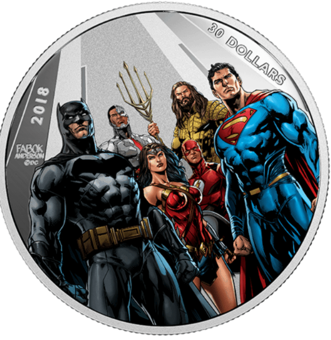 Royal Canadian Mint Justice League 2018 Worlds Greatest Super Heroes