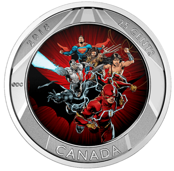 Royal Canadian Mint Justice League 3D Coin 2018