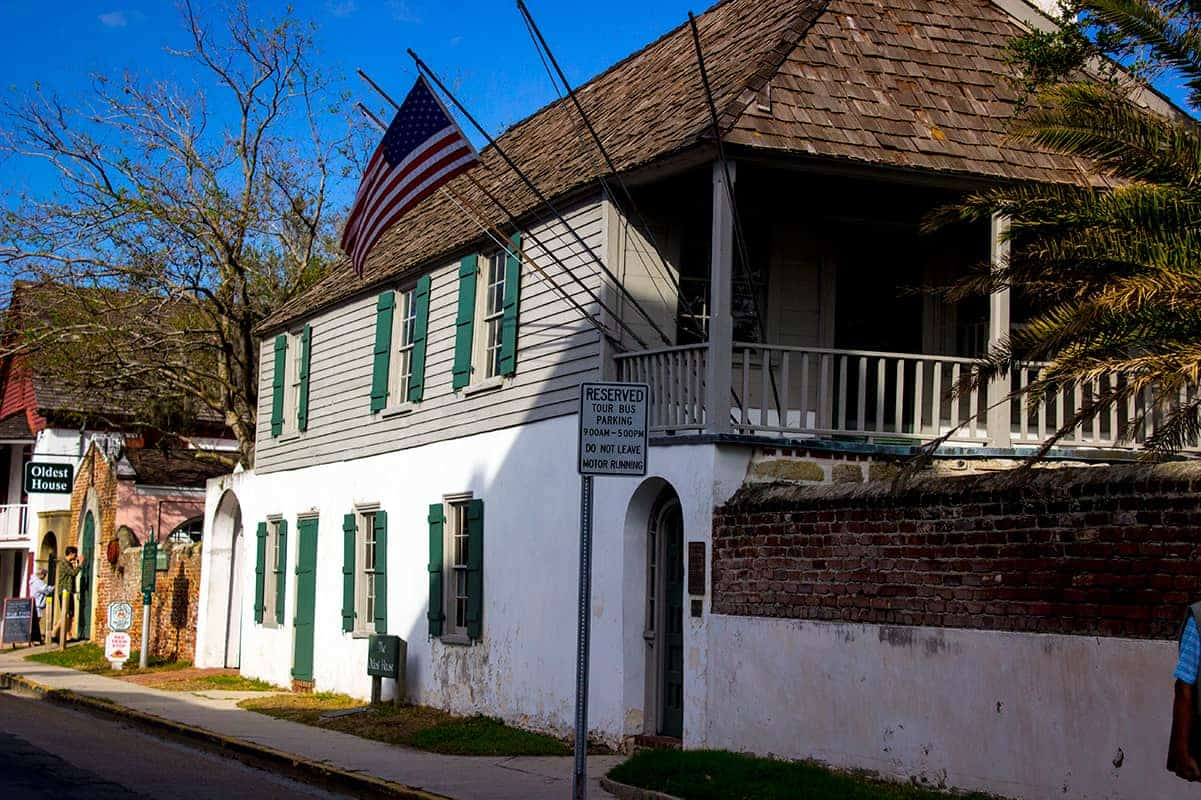 St Augustine Gonzalez–Alvarez House Oldest House Florida Red Train Tour