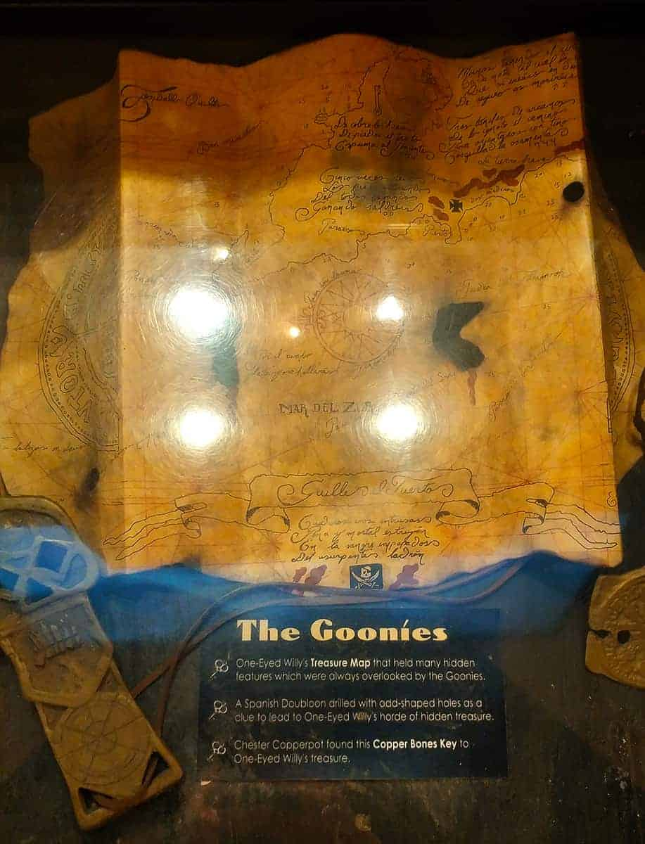 The Goonies Map at the Pirate and Treasure Museum